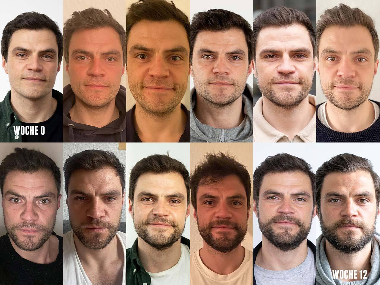 Zeitraffer: Bart wachsen lassen in 12 Wochen