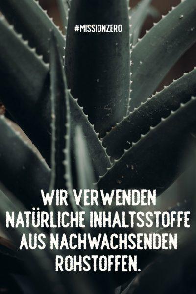 Nachhaltigkeit, Agavenblätter und ALoeVera